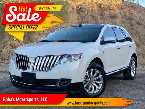 🔥2012 LINCOLN MKX 3.7L V6 PEARL WHITE COLOR PANORAMIC ROOF🔥 - cars &... for sale in Phoenix, AZ