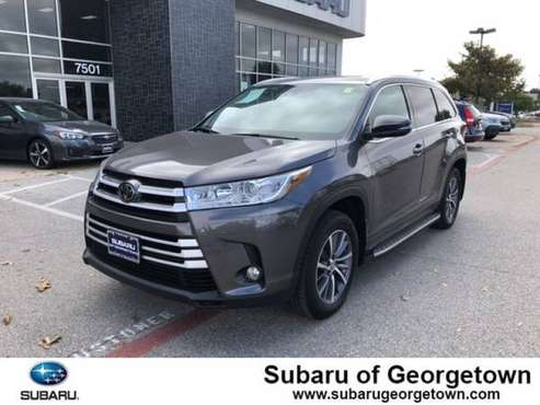 2019 Toyota Highlander XLE for sale in Georgetown, TX