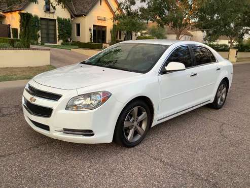 2012 CHEVY MALIBU LT - WHITE - CLEAN - RUNS GREAT - COLD AIR -WARRANTY for sale in Glendale, AZ