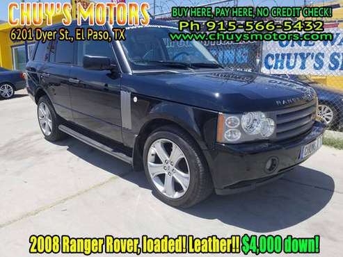 2008 LAND ROVER, Range Rover, Leather! Loaded! just $4k down!! for sale in El Paso, Tx, TX