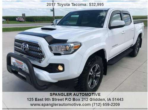 2017 TOYOTA TACOMA TRD SPORT*43K MILES*REMOTE START*NEW TIRES*SHARP!! for sale in Glidden, IA