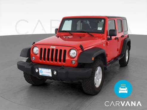 2017 Jeep Wrangler Unlimited Sport SUV 4D suv Red - FINANCE ONLINE -... for sale in Mesa, AZ
