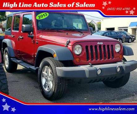 2013 Jeep Wrangler Unlimited Sport 4x4 4dr SUV EVERYONE IS APPROVED!... for sale in Salem, ME