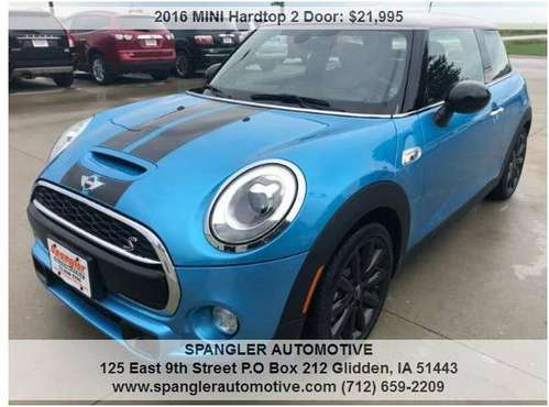 2016 MINI COOPER S*16K*HEATED LEATHER*NAV*DUAL MOONROOF*SPORTY RIDE!! for sale in Glidden, IA