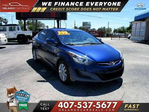 This 2016 Hyundai Elantra SE NO CREDIT CHECK LOW DOWN PAYMENTS for sale in Maitland, FL