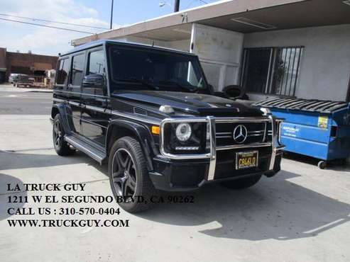 2014 MERCEDES-BENZ G63 AMG DESIGNO FULLY LOADED BLACK LOW MILES for sale in GARDENA, TX