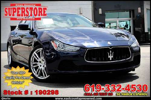 2014 MASERATI GHIBLI S Q4 sedan-EZ FINANCING-LOW DOWN! for sale in El Cajon, CA
