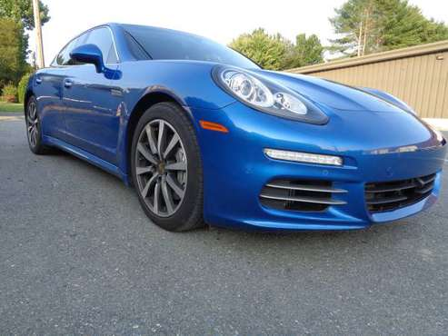 2015 PORSCHE PANAMERA 4S SAPPHIRE BLUE 1 0wner cln ORG MSRP $120665 for sale in Bangor, MA