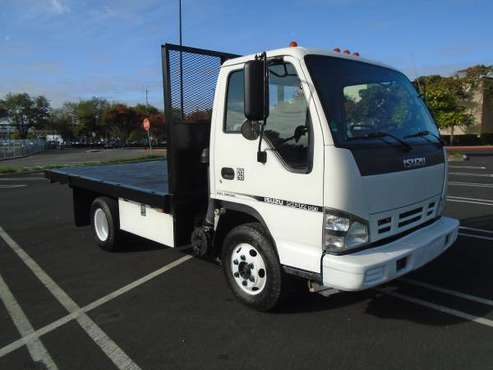 2007 ISUZU NPR HD WITH 12' FLAT BED for sale in San Leandro, CA