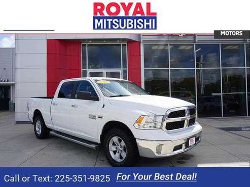 2016 Ram 1500 SLT 4WD 149WB pickup Bright White for sale in Baton Rouge , LA