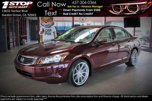 2010 Honda Accord * Bad Credit? Repos? WE DON'T CARE * $1500 DOWN for sale in Garden Grove, CA