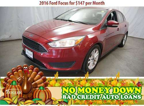 $147/mo 2016 Ford Focus Bad Credit & No Money Down OK - cars &... for sale in Bridgeview, IL