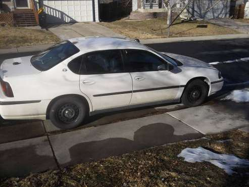 2003 chevy impala 175,000 miles good running car chevy impala white for sale in Broomfield, CO
