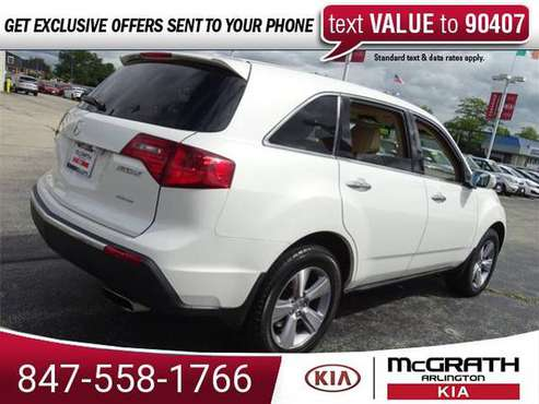 2012 Acura MDX Technology suv Aspen White Pearl II for sale in Palatine, IL