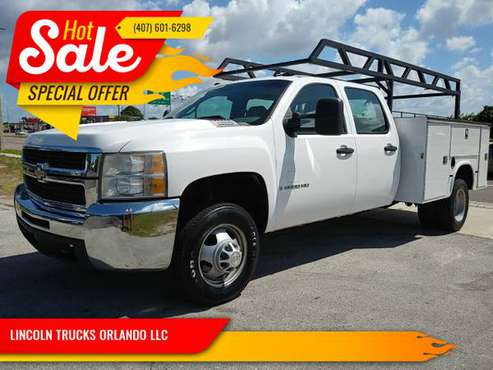 2008 CHEVY 3500 GAS CREW CAB UTILITY BED SUPER CLEAN RUNS PERFECT for sale in Orlando, FL