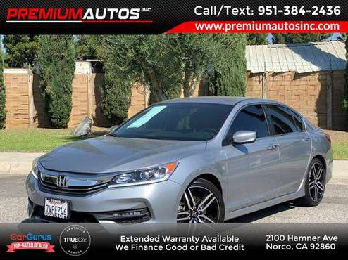 2017 Honda Accord Sedan Sport LOW MILES! CLEAN TITLE for sale in Norco, CA