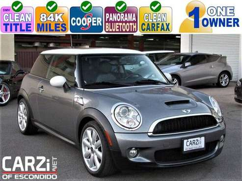 2010 Mini Cooper S Clean Title 1 Owner Title Turbo 84K w/Panorama Roof for sale in Escondido, CA