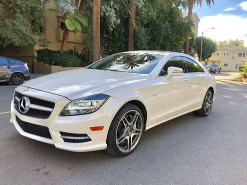White 2012 Mercedes CLS550 AMG for sale in Van Nuys, CA
