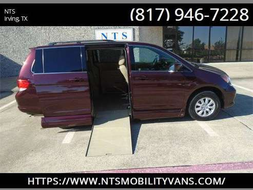 LEATHER 2010 HONDA ODYSSEY MOBILITY HANDICAPPED WHEELCHAIR RAMP VAN for sale in Irving, AR