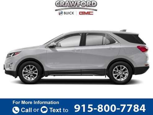 2020 Chevy Chevrolet Equinox LT hatchback Silver Ice Metallic for sale in El Paso, TX