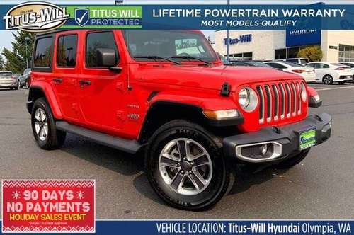2019 Jeep Wrangler Unlimited 4x4 4WD SUV Electric Sahara Convertible... for sale in Olympia, WA