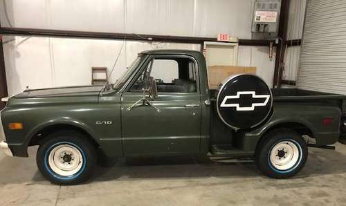 1969 Chevy C10 Stepside Pickup with Spare Tire Cover for sale in Cleveland, NC
