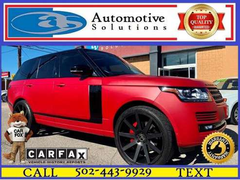2013 Land Rover Range Rover Supercharged 4x4 4dr SUV for sale in Louisville, KY