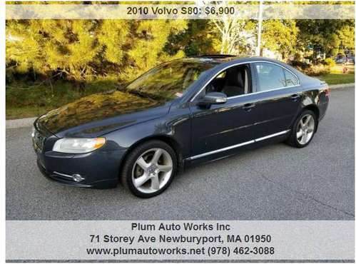 2010 VOLVO S80 T6 AWD 4 DR SEDAN. 1 OWNER SUPER CLEAN INSIDE AND OUT for sale in Newburyport, MA