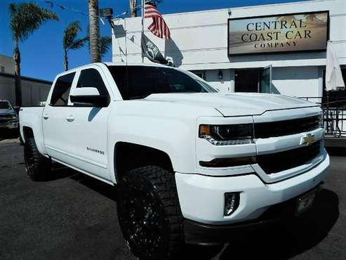 2017 CHEVY SILVERADO 4X4 LIFTED! WHITE ON BLK WHEELS LOW MILES! NICE! for sale in GROVER BEACH, CA