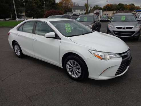 ****2015 TOYOTA CAMRY LE-ONLY 49,000 MILES-WHITE-SERVICED-100% MINT for sale in East Windsor, CT
