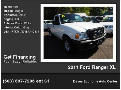 2011 Ford Ranger XL for sale in Portland, OR