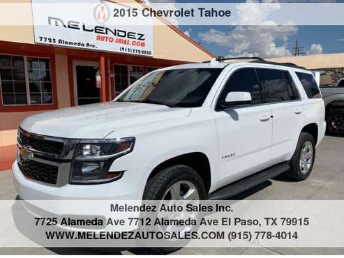 2015 Chevrolet Tahoe 4WD 4dr LT for sale in El Paso, TX