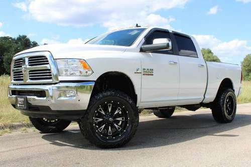 "WHITE KNIGHT! 2015 RAM 2500 BIG HORN 4X4 CUMMINS LIFTED 20""FUELS&35'S! for sale in Temple, TX"