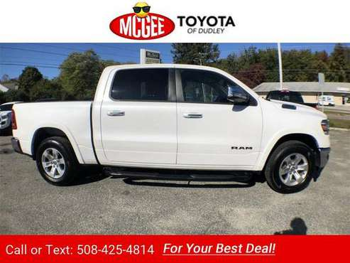 2019 Ram 1500 Laramie pickup Ivory White for sale in Dudley, MA