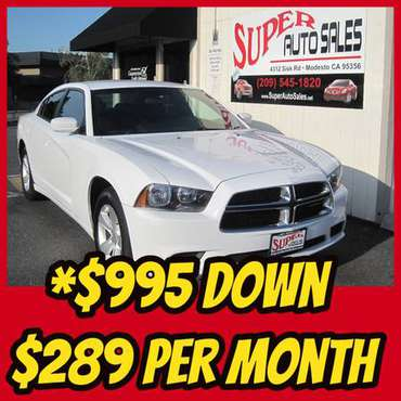 *$995 Down *$289 Per Month on this 2014 Dodge Charger SE! for sale in Modesto, CA