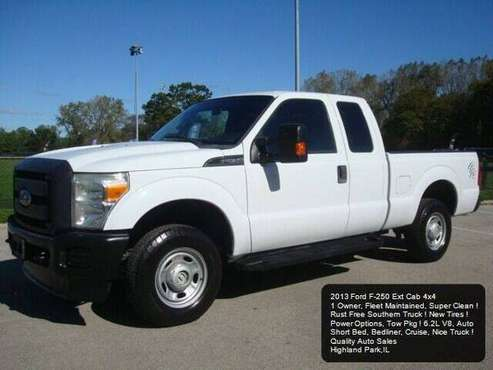 2013 Ford F250 4x4 Ext Cab F-250 F350 4WD Rust Free V8 1 Owner Carfax for sale in Highland Park, WI