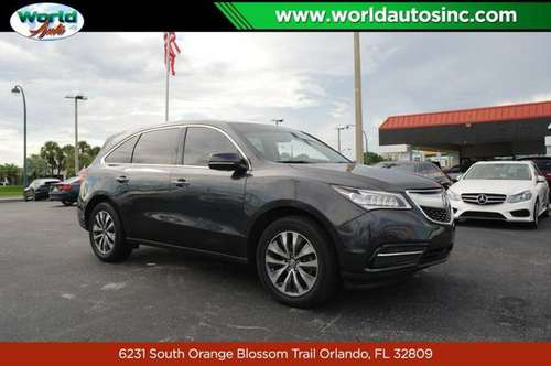 2015 Acura MDX 6-Spd AT w/Tech Package $729/DOWN $85/WEEKLY for sale in Orlando, FL