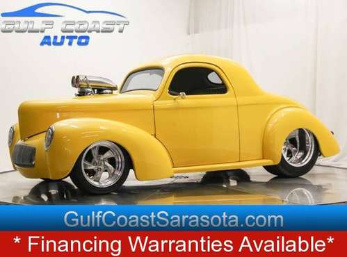 1941 Willys WILLYS CUSTOM HOT ROD 900HP LEATHER BLOWER L@@K for sale in Sarasota, FL