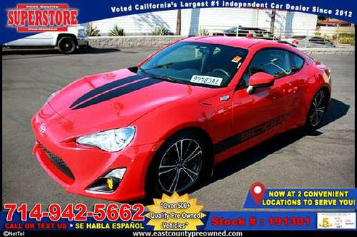 2016 SCION FR-S BASE coupe-EZ FINANCING-LOW DOWN! for sale in El Cajon, CA