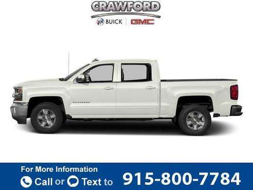2016 Chevy Chevrolet Silverado 1500 LT pickup Iridescent Pearl Tricoat for sale in El Paso, TX