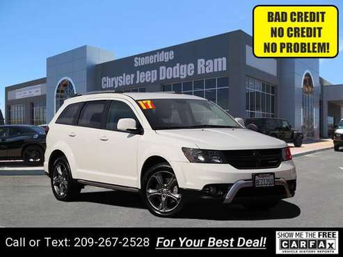 2017 Dodge Journey Crossroad Plus Sport Utility hatchback White for sale in Pleasanton, CA
