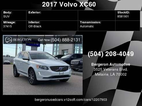 2017 Volvo XC60 T6 Inscription for sale in Metairie, LA