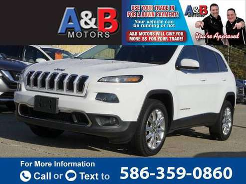 2014 Jeep Cherokee 4WD 4dr Limited hatchback White - cars & trucks -... for sale in Roseville, MI