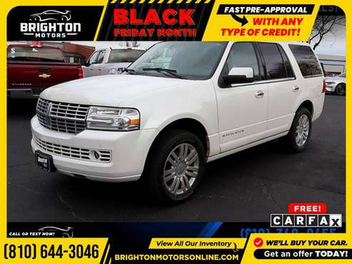 2011 Lincoln Navigator Base 4WD! FOR ONLY $199/mo! - cars & trucks -... for sale in Brighton, MI