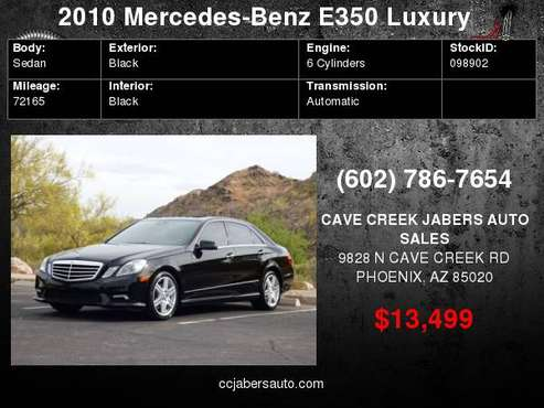 2010 Mercedes-Benz E 350 Luxury RWD for sale in Phoenix, AZ