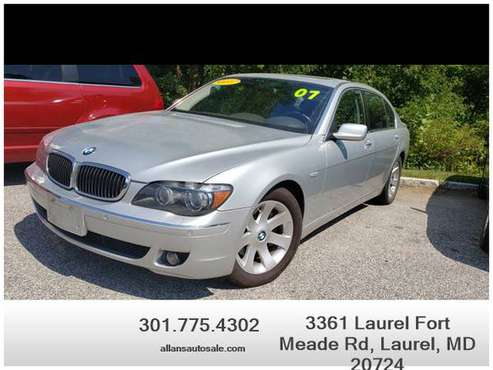 2007 BMW 7 Series 750Li Sedan 4D - Financing Available! for sale in Laurel, MD