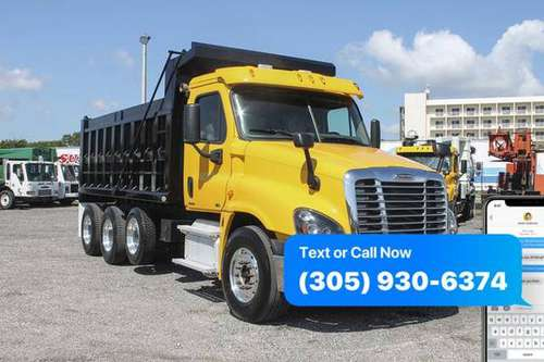 2012 Freightliner Cascadia Tri Axle Dump Truck For Sale *WE FINANCE... for sale in Miami, FL