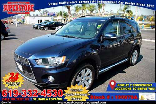 2013 MITSUBISHI OUTLANDER SE 4WD SUV -EZ FINANCING-LOW DOWN! for sale in El Cajon, CA