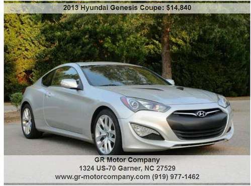 2013 Hyundai Genesis GT Coupe-New tires, Leather, NAV, Bluetooth, NICE for sale in Garner, NC
