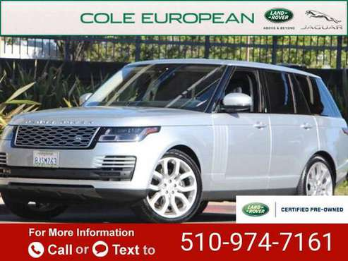 2019 Land Rover Range Rover 3.0L V6 Supercharged HSE suv Indus Silver for sale in Walnut Creek, CA